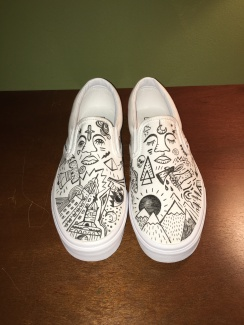 Hand-drawn custom Vans