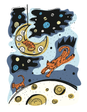 Moon Cats – adobe illustrator