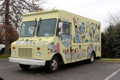 Beach Plum Food Truck mock brand . photoshop