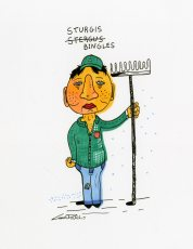 Sturgis Bingles character drawing