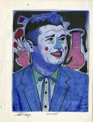 Roy Acuff pen & ink on found image