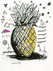 "(SOLD) The Pineapple9"" x 12"" pen & ink on paper"