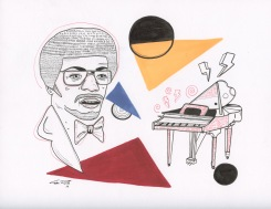"Herbie Hancock | 9"" x 12"" | Ink on Paper"