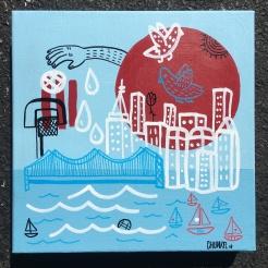 "NYC | 10"" x ""10 | Acrylic on Canvas"
