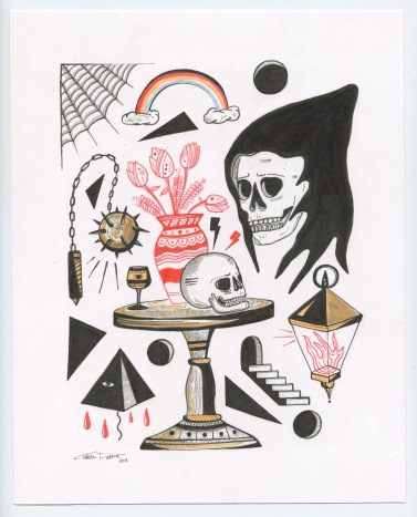 "October, 1st 2018 | 8"" x 10"" | Ink on Paper"