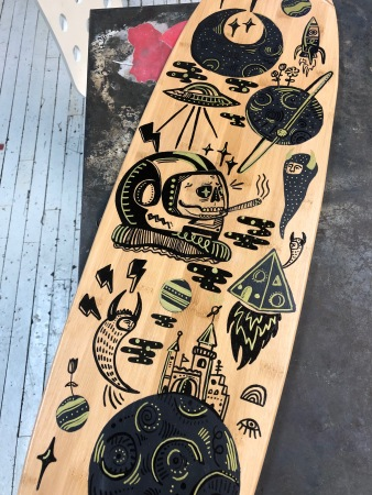Space Longboard Detail