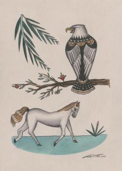 Horse&PerchedEagle